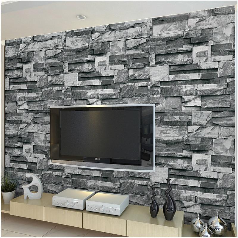 hohe qualität großhandel tapete stein aus china tapete stein ... - Backstein Tapete Wohnzimmer