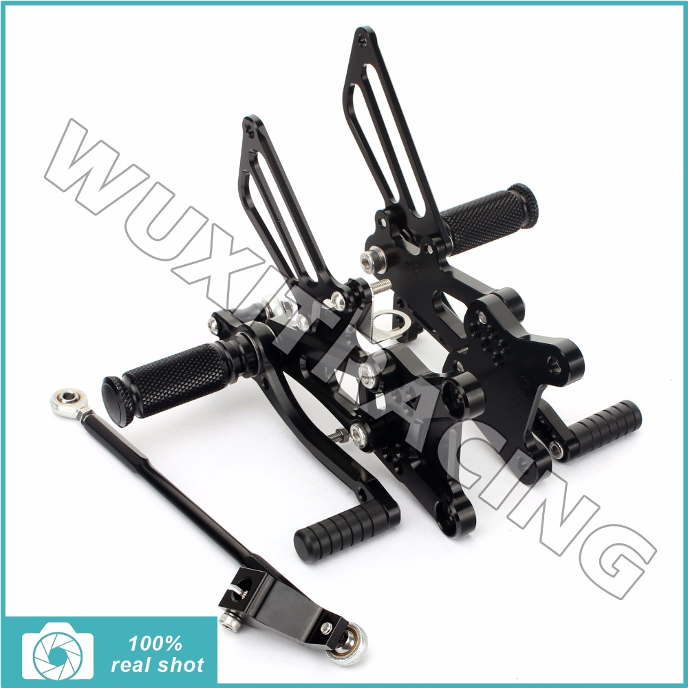 BIKINGBOY Adjustable CNC Billet Footpegs Rear Sets Foot Rests Rearsets for HONDA CBR600F CBR 600 F F4 F4i 01 02 03 04 05 06 07 black cnc racing motorbike footpegs rearset rear set foot rests for honda cb1300 03 13 08 09 10 11 12 d25