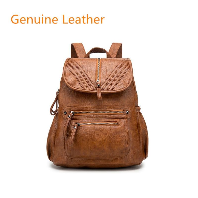 New Fashion Woman Backpack Leather Brands Female Backpacks High Quality Schoolbag Backpack Elegant School Bagpack