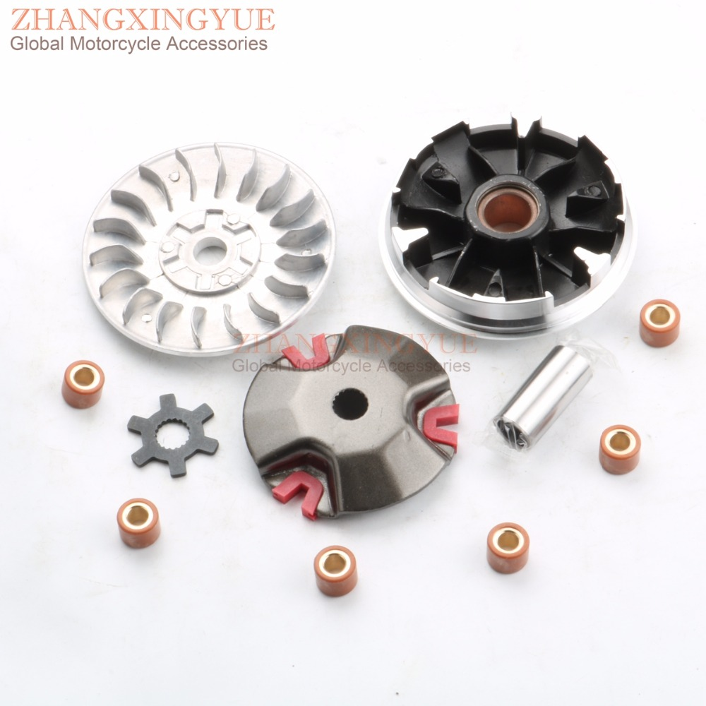 Performance 18mm Variator Set W / 8g Rollers For YAMAHA Minarelli Breeze Neos Jog Aerox Zest BWS 50 1E40QMB Scooter