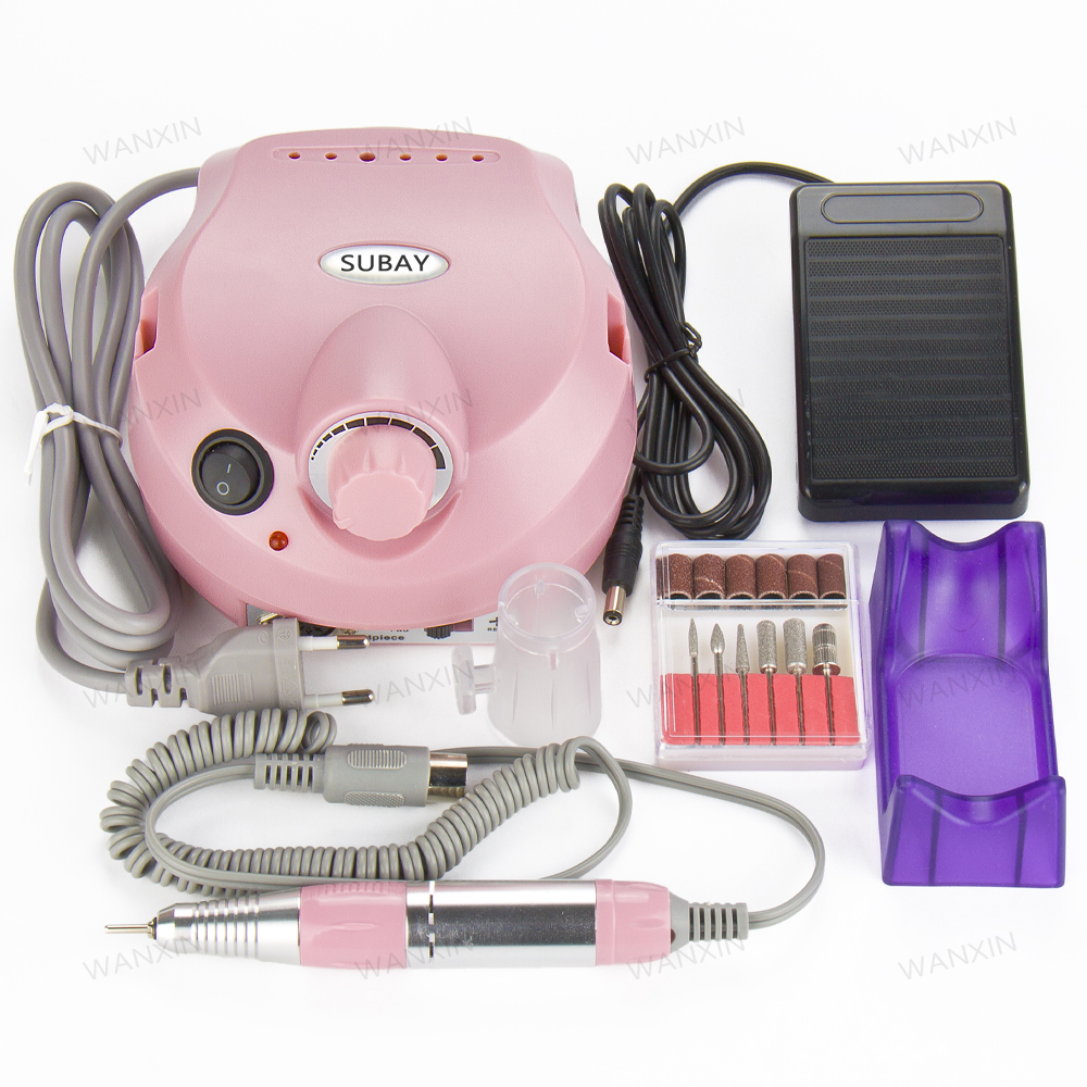 цена на Pink Electric Nail Drill Machine 30000 RPM Pro Nail File Drill Machine Maniure And Pedicure Drill Polish Bits Tools Kits