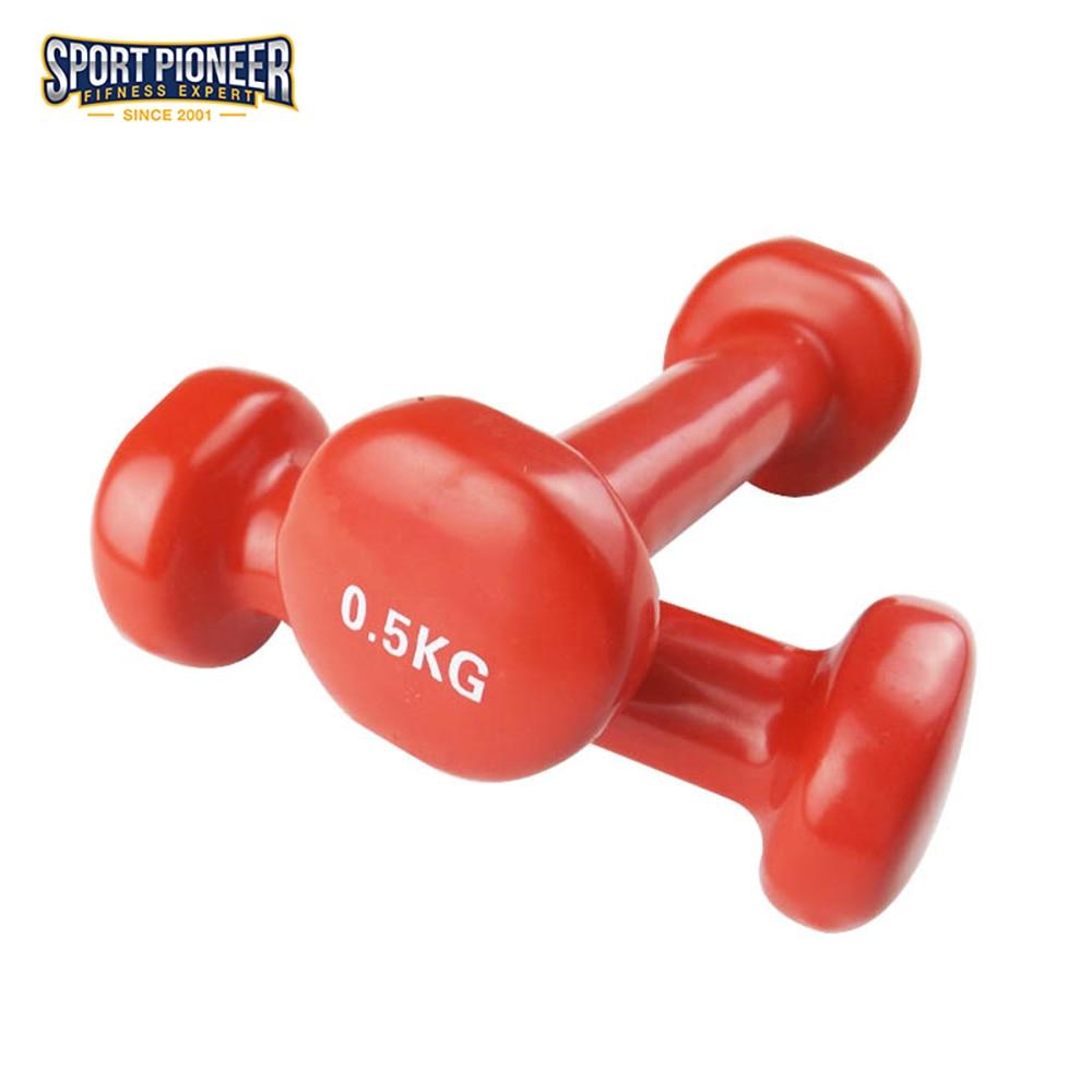 Hot Sale een paar 0.5KG Vinyl gedimde halters voor fitness Home Gym - Fitness en bodybuilding