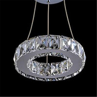 LED Transparent Crystal Pendant Lamp For Aisle Porch Hallway 20CM Crystal Ring Dining Light Wth LED