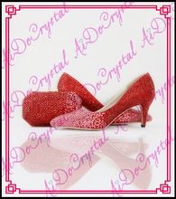 Aidocrystal Hot Italian low heel shoes and matching bag high qulity for party