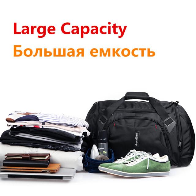 AspenSport Luggage Travel Bags for men Nylon Duffle Handbag Waterproof Large Strap Organizer Folding Backpacks Black/Red/Blue