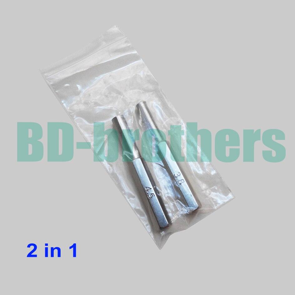 2 in 1 Security Bit 3.8mm 4.5mm Hexagon Screwdriver Open Tool Gamebit for Nintendo NGC SFC MD NES N64 SNES Gameboy 100set/lot(China)