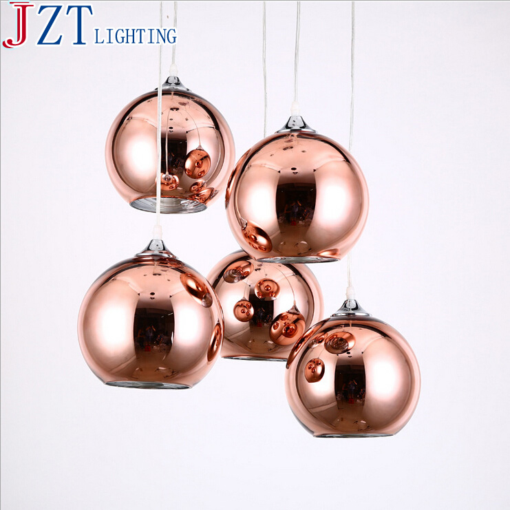 ФОТО M D20*140cm Modern And Concise Fashion Cafe Bar Copper Glass Single Pendant Light Vintage Retractable Weight 2kg American Style