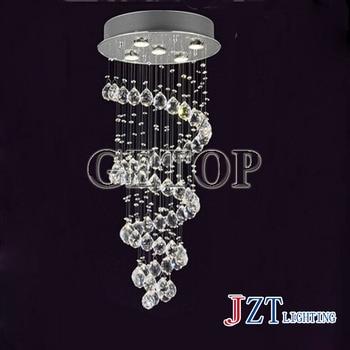 J beste prijs kristallen trap lamp K9 crystal light Super dichte wenteltrap droplight Crystal droplight moderen stijl