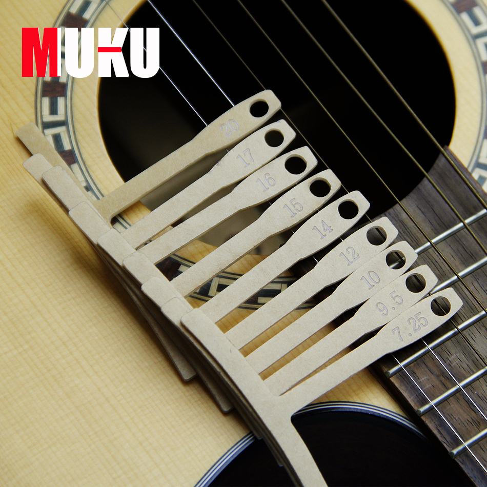 MUKU Guitar Fret Radian Measuring Caliper good quality plastic Measuring Caliper guitar