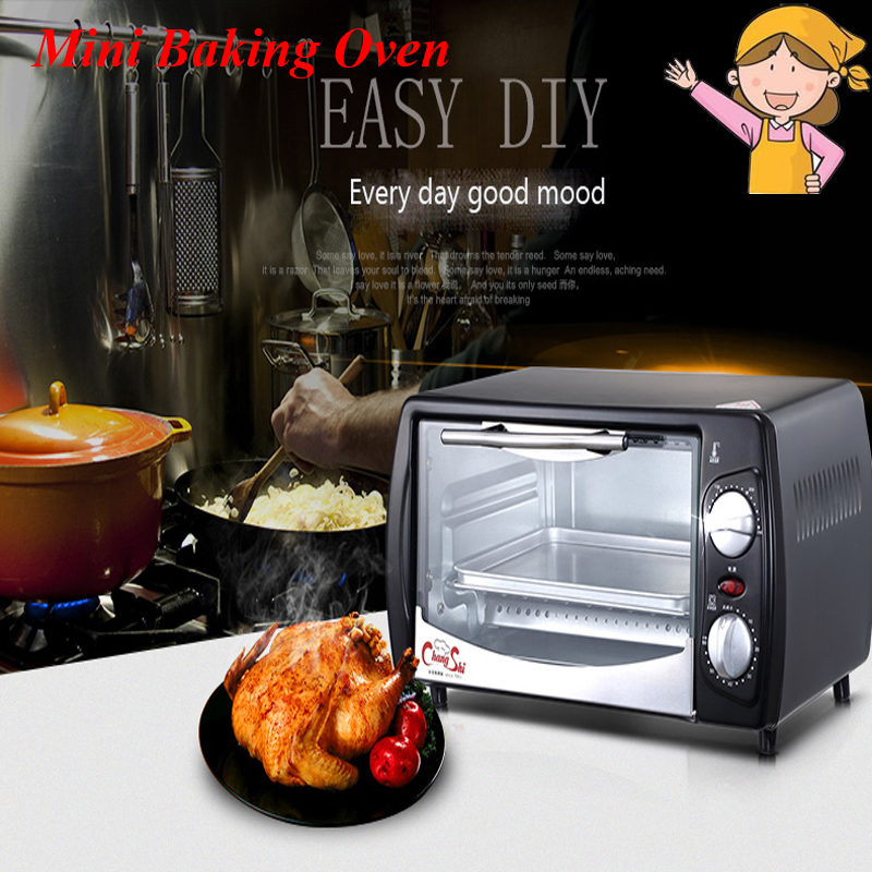 Household Mini Baking Oven 12L Stainless Steel Electric Glass Oven Cake Toaster Kitchen Appliances CS1201A kitchen appliances household baking mini oven 12l stainless steel housing glass electric oven cake toaster