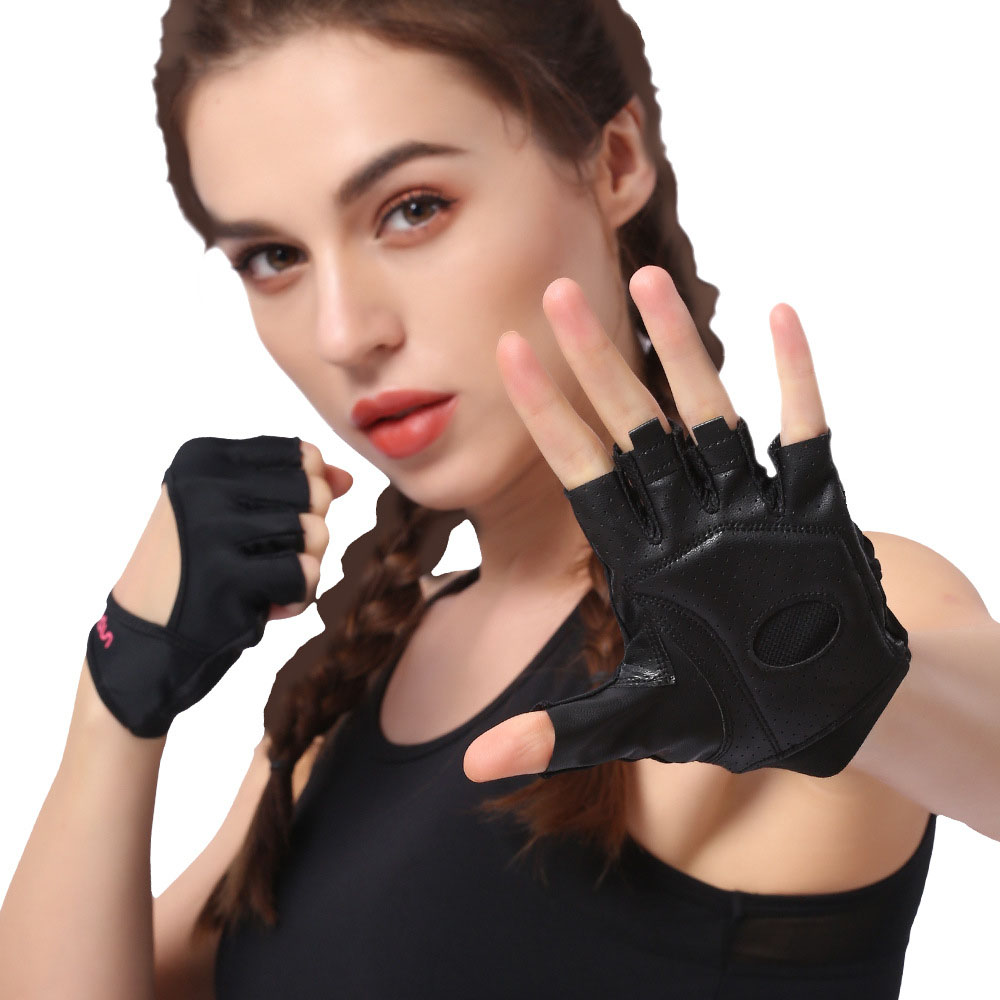 Fitness gloves female half finger equipment training aerial yoga anti-sliding sense dance sports gloves