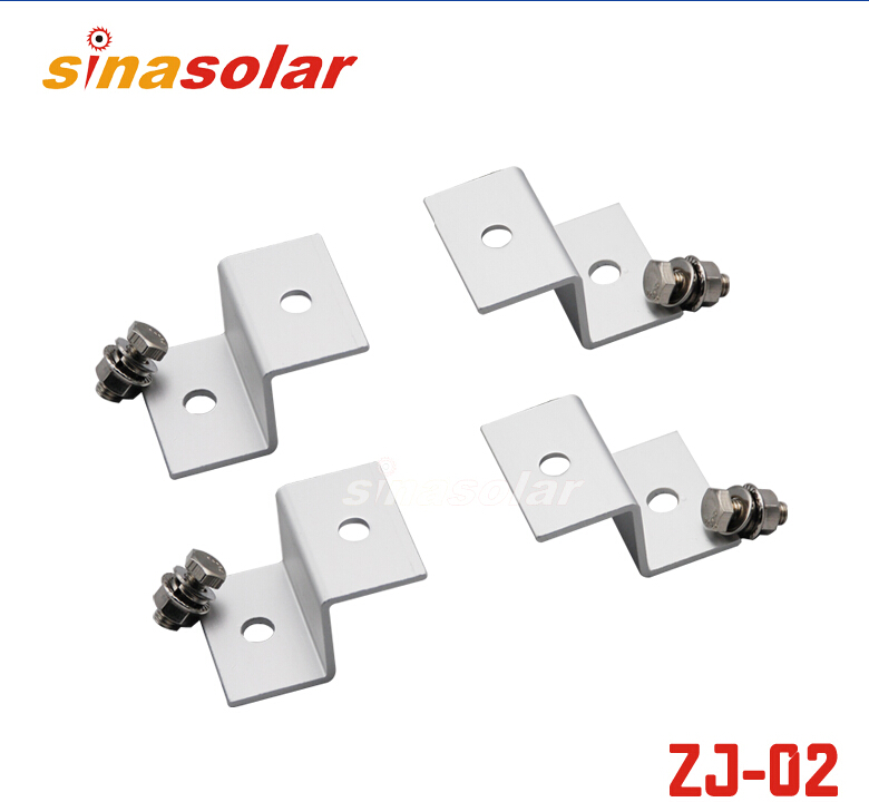 Aluminum Z-Style Mount Solar Panel Z Bracket Kits Easily Mounting Universal For Outdoor RV Boat Off Grid Roof