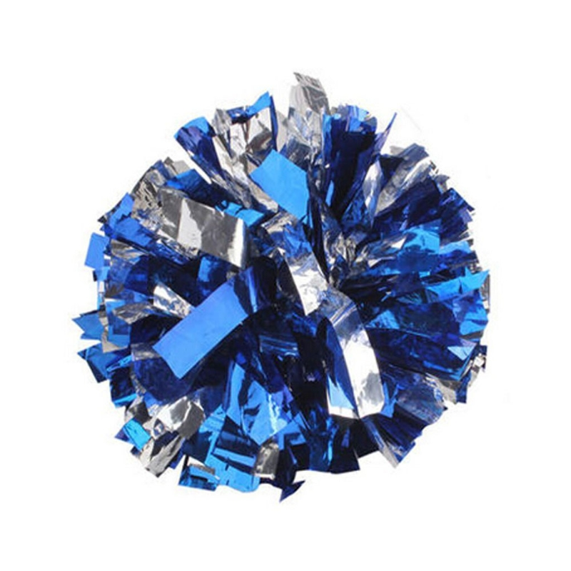 Handheld Cheerleader Pom Poms For Cheerleading Dance Party Football Club Decor Blue And White Pompom