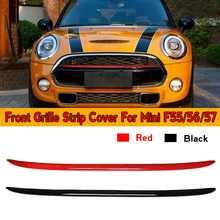Nova grade dianteira decoração capa listra estilo do carro acessórios para cooper mini cooper f55 f56 f57