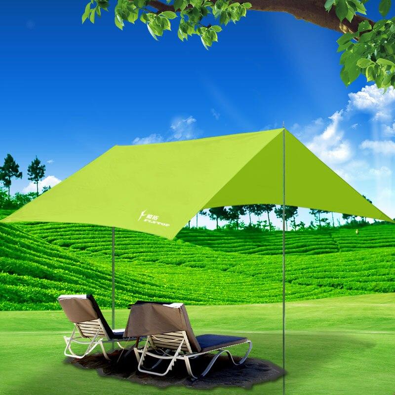 Fytop plage camping tentes canopy arbor en plein air grand pliage auvent étanche à la pluie balcony3 * 2.95 m voyage pergola parasol bâche dans Abri du soleil de Sports et loisirs