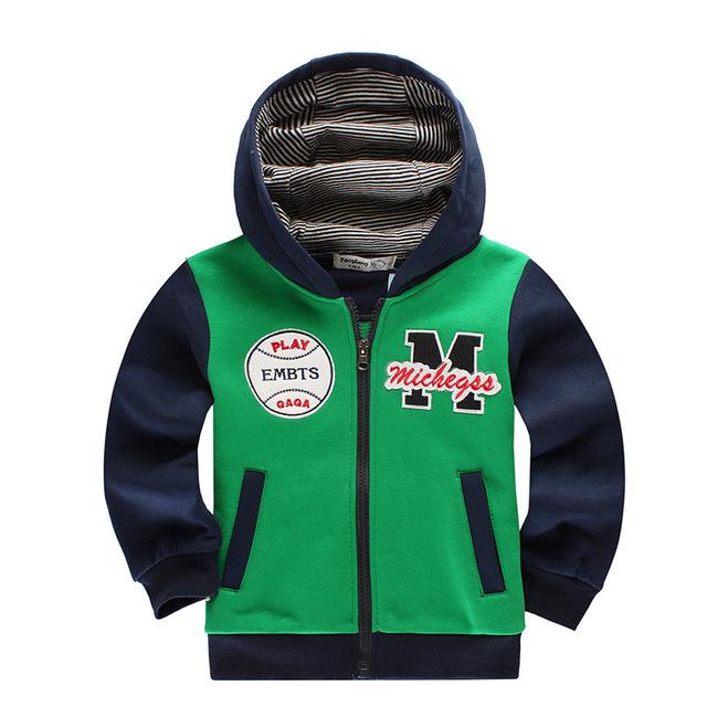 Venda quente das crianças hoodies & camisolas primavera outono inverno 2017 moda de nova lazer zipper outwear casaco do garoto clothing