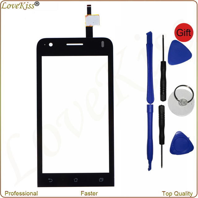"Black For ASUS Zenfone C ZC451CG Z007 4.5"" New Digitizer Touch Screen ZC451CG Panel Sensor Lens Glass Replacement With Toolkit"