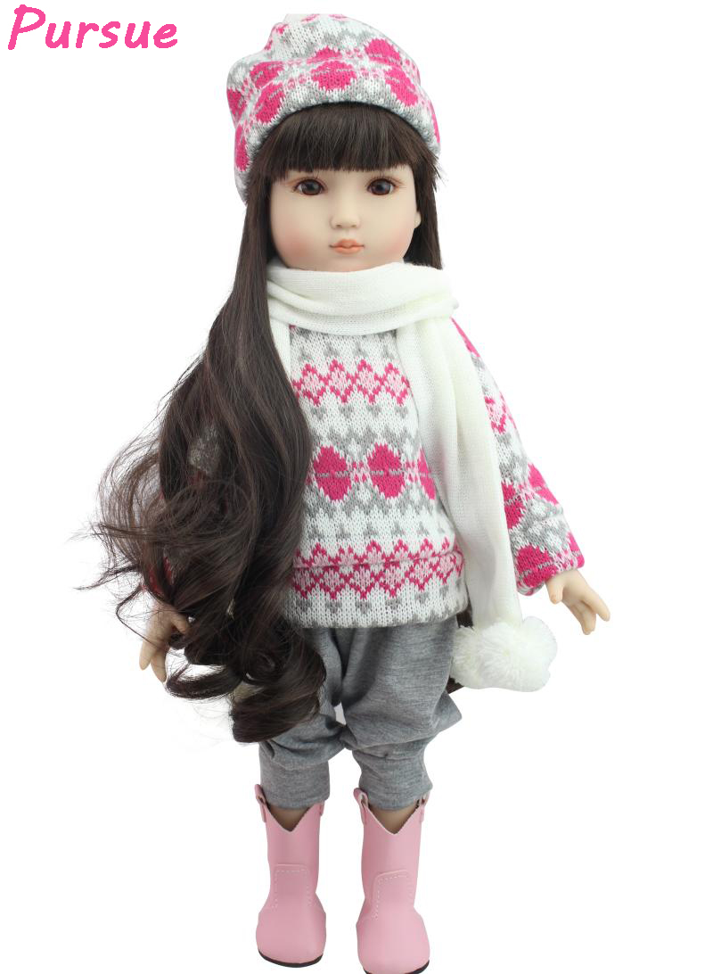 Pursue 18inch/45cm Long Hair American Girl Fantasy BJD Dolls Toys for Children Girls Reborn Dolls Babies American Girl boneca little white dragon assembling toys educational toys girl fantasy girls beach villa 423