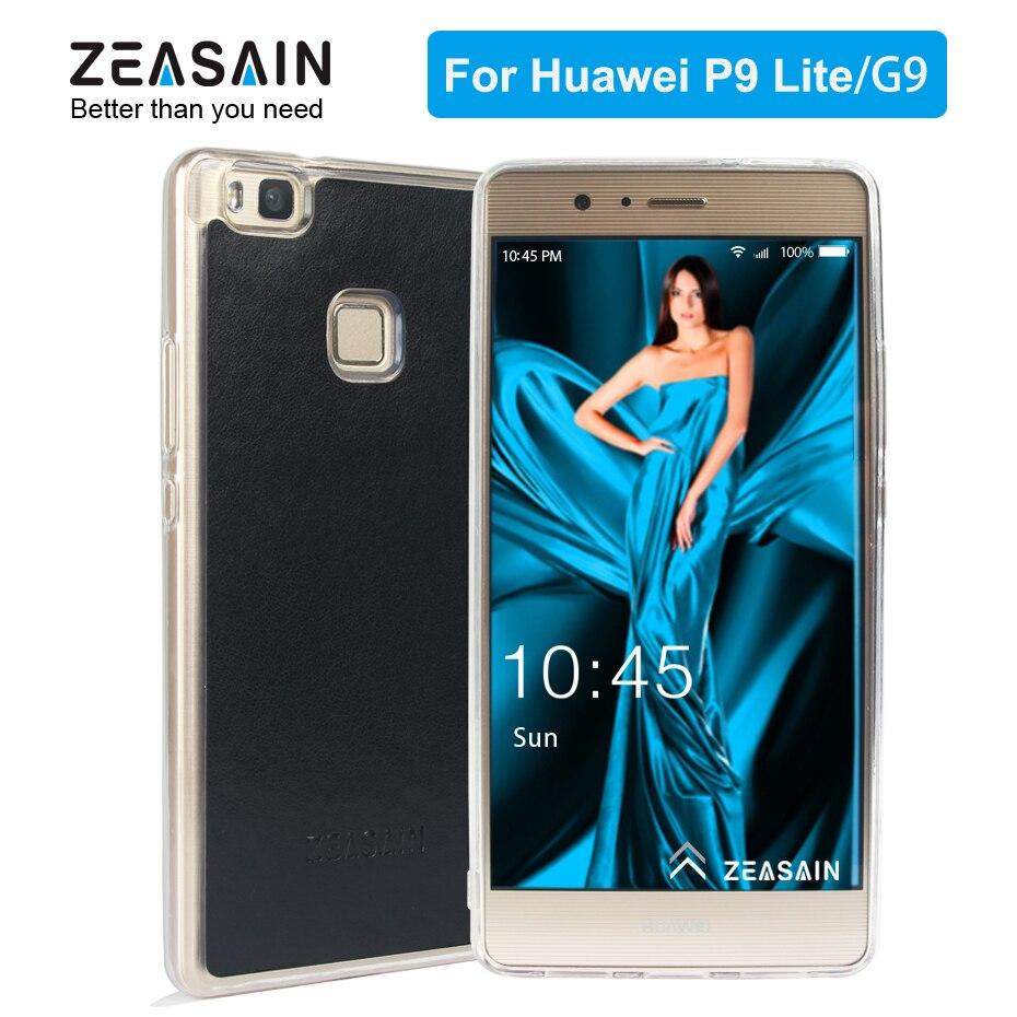 Original ZEASAIN Skin Mjukt PU-läderfodral för Huawei P9 Lite - Reservdelar och tillbehör för mobiltelefoner