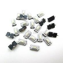 100 قطعة/الوحدة SMD 3*6*2.5 ملليمتر اللمس اللمس دفع زر التبديل الجزئي لحظة اثنين دبوس ل MP3 MP4