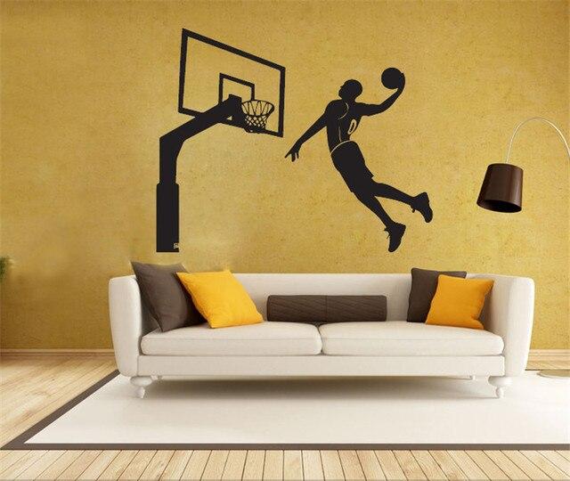 best loved b1fff 0a3e1 Handgemachte Grafik vinyl wandaufkleber von Michael Jordan für kinderzimmer  home dekorative wandtattoo wand vinilos pegatinas de