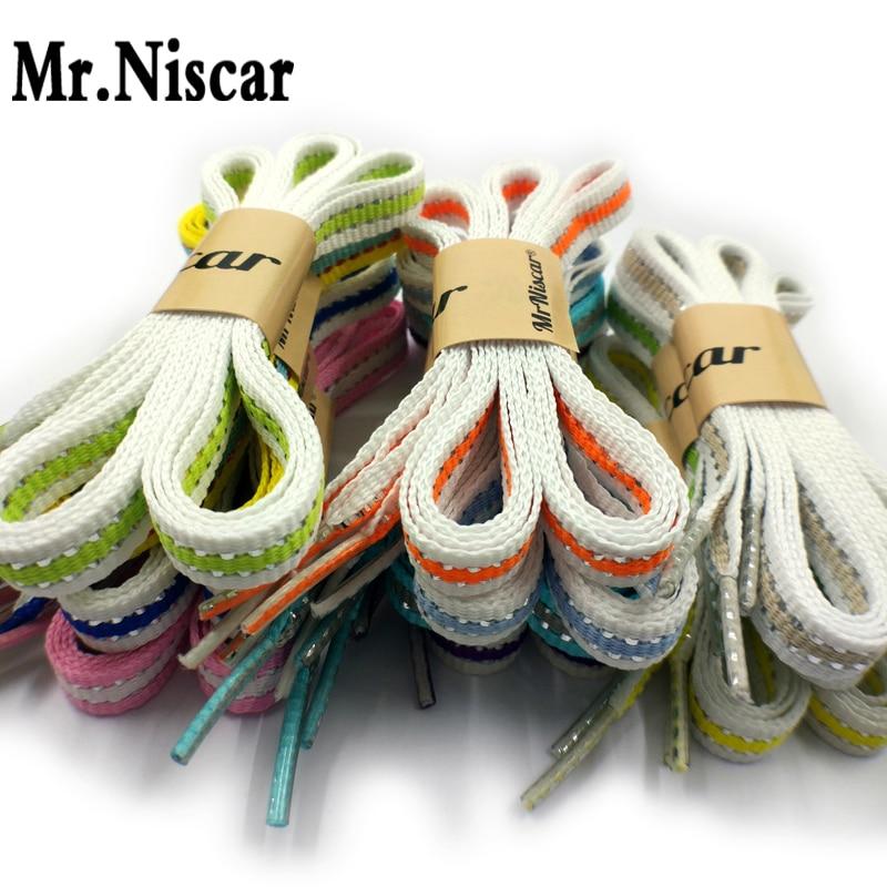 Best buy ) }}1Pair Cheap Silver Line Striped ShoeLaces Flat Shoe Laces