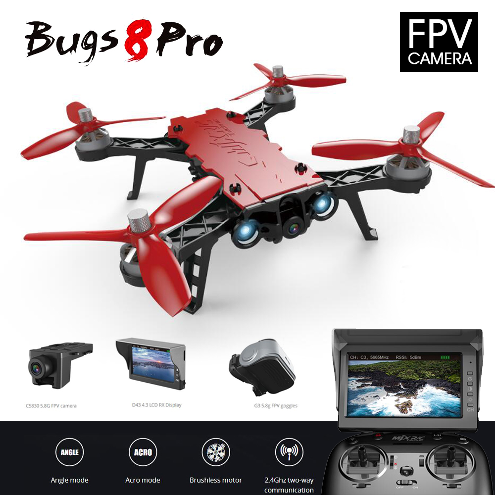 NEW MJX B8 PRO <font><b>Brushless</b></font> Quadcopter FPV <font><b>Drone</b></font> With WiFi Camera Double 2.4G 6Axis 5.8G Real-Time RC Helicopter VS MJX B8PRO image