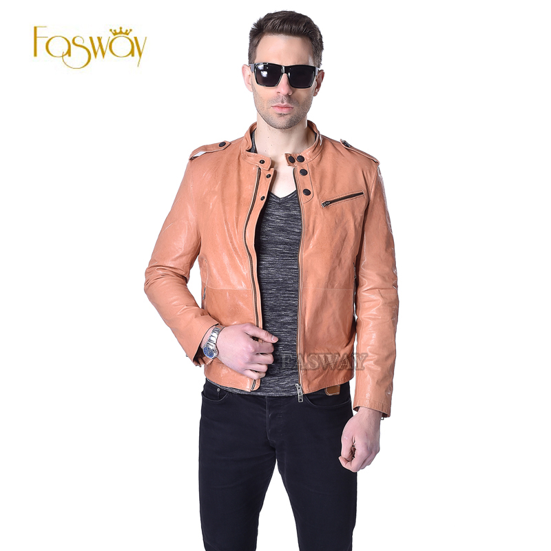 Popular Tan Leather Jacket-Buy Cheap Tan Leather Jacket lots from