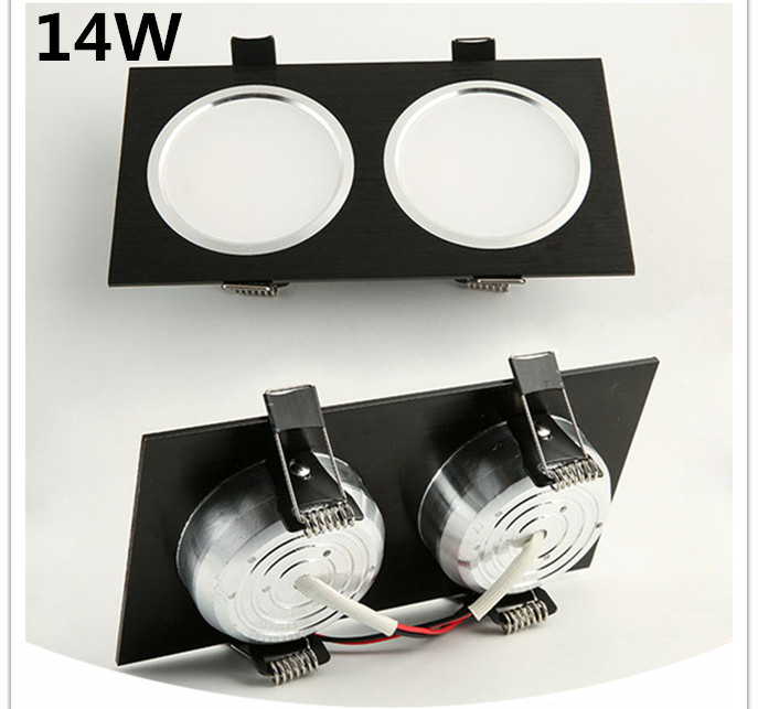 2018 Special Offer Rushed 3pcs 14w Cree Led For Square Downlight Cob Recessed Ceiling Down Light Lamp For Home in LED Downlights from Lights Lighting