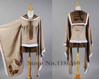Senbonzakura Vocaloid Kagamine Rin Cosplay Costumes Full Set Customized Free Shipping Top Skirt Eyepatch Socks Hat