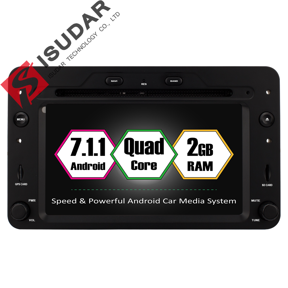 Isudar Voiture Multimédia Lecteur GPS Android 7.1.1 Pour Alfa/Romeo/Spider/Brera/159 Sportwagon CANBUS 2 gb RAM Voiture Radio 1 Din Wifi