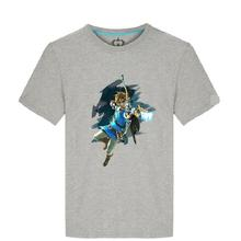 High-Q The Legend of Zelda: Breath of the Wild cotton t-shirt tee t shirt Unisex Zelda Link breathable loose t-shirt tee shirt