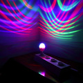 Hot hot B22 3W Colorful Crystal Ball Stage Auto Rotating RGB LED Bulb Stage Light Party Disco DJ