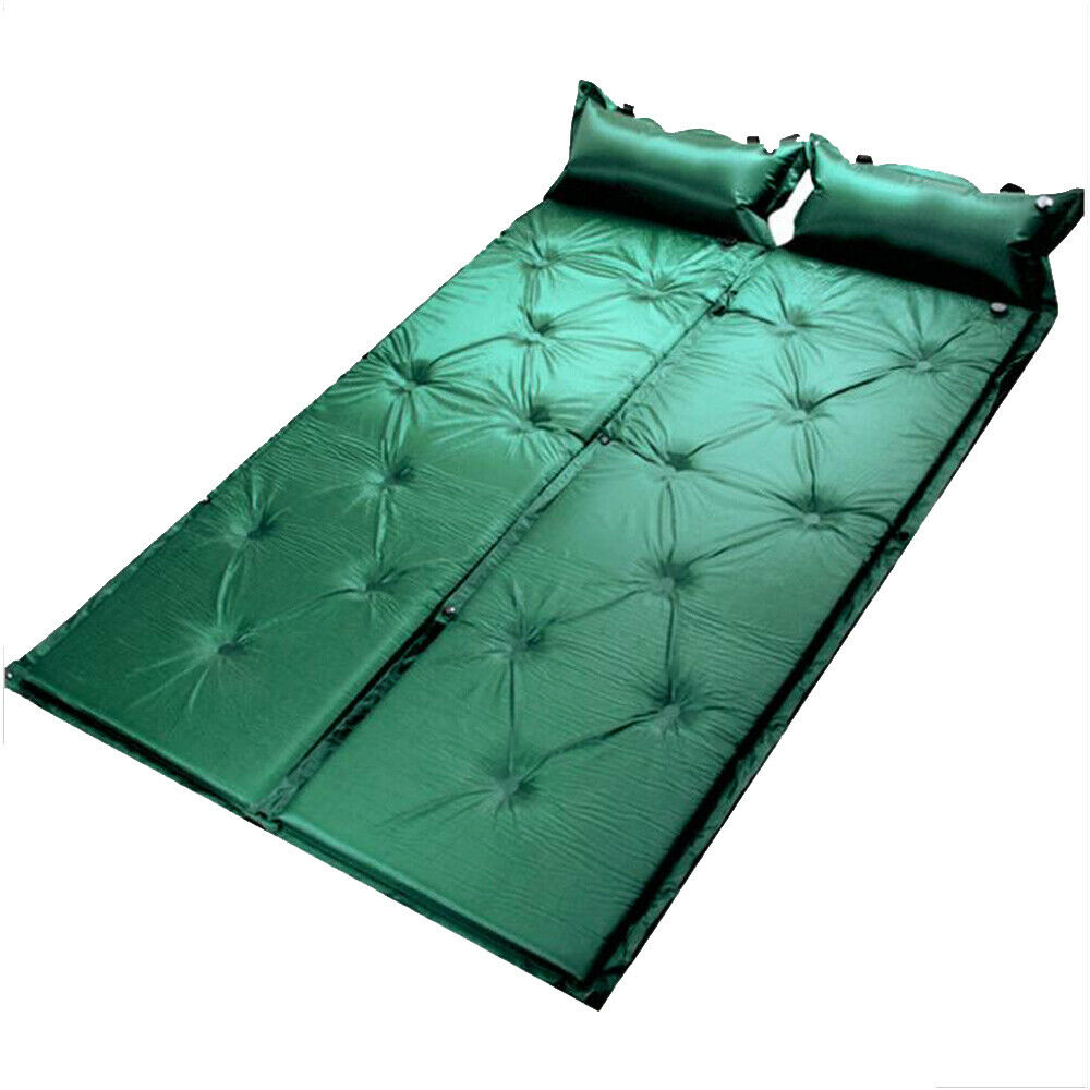 Self Inflating Camping Roll Mat Pad Sleeping Bed Inflatable Air Mattress + Bag