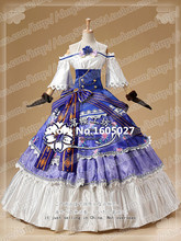 Anime Love Live! Sonoda Umi Cosplay Action Figure Ball Awaken Party Uniform Lolita Full Dress Costume Any Size NEW