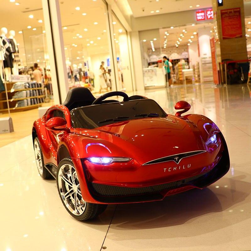 Abdo télécommande Automobile jouets voiture électrique enfant voiture électrique quatre roues Double entraînement jouet voiture rechargeable bébé peut s'asseoir sur - 2