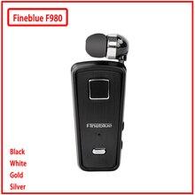 Fineblue MINI auriculares inalámbricos F980, auriculares internos manos libres con micrófono, Bluetooth, vibración, compatible con IOS y Android
