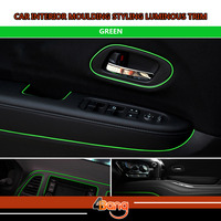 Newest 10Metres Luminous Green Color DIY Car Truck Interior Console Panel Decoration Moulding Styling Trim Strip