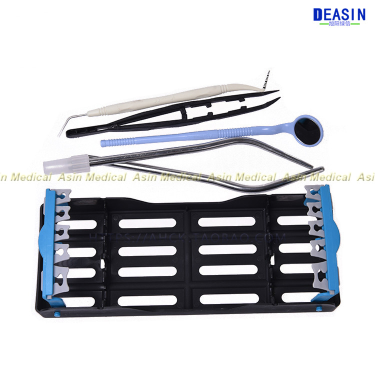 Dental implant tool kit with disinfection box Repeatable sterilization dental impalnt tools plate rich fibrin box dental implant container box dental implant kit prf box
