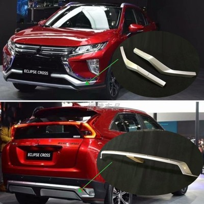 High Quality Plastic Abs Front+rear Bumper Cover Trim Decorative Strip For  Mitsubishi Eclipse Cross 2018-2019  Car StylingHigh Quality Plastic Abs Front+rear Bumper Cover Trim Decorative Strip For  Mitsubishi Eclipse Cross 2018-2019  Car Styling