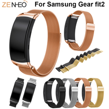 For Samsung Gear fit2 smart watch 18mm watch strap Milanese Loop Wristbands replacement Bracelet For Samsung Gear fit2 watchband samsung gear fit2 яндекс переведет текст с картинки почта россии будет доставлять уведомления по e mail