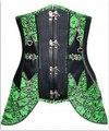 Sexy Green Steampunk Corset Women's Bustiers & Corsets Goth Underbust Cupless Waist Train Corset Bustier Top S M L XL 2XL 3XL