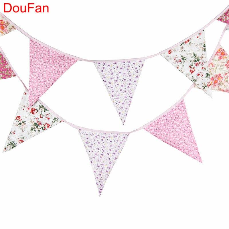 DouFan πανί βαμβάκι Pennant σημαία - Προϊόντα για τις διακοπές και τα κόμματα - Φωτογραφία 5
