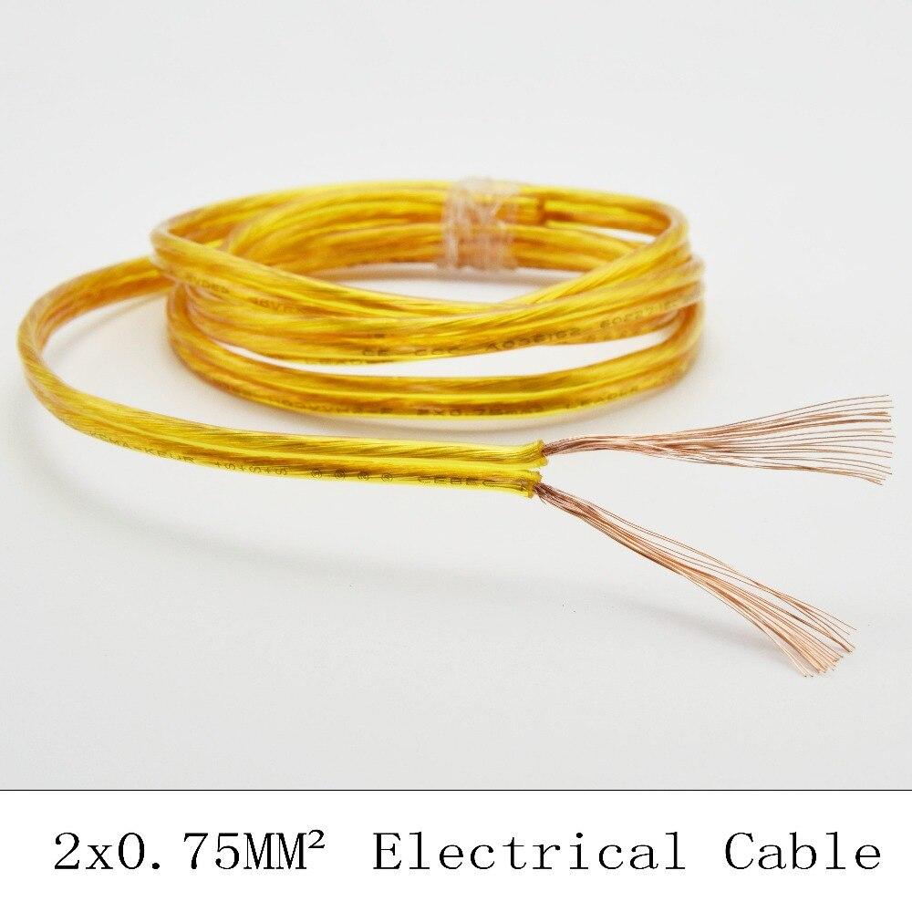 2*0.75mm2 Tansparent Vintage Electrical Cable PVC Wire