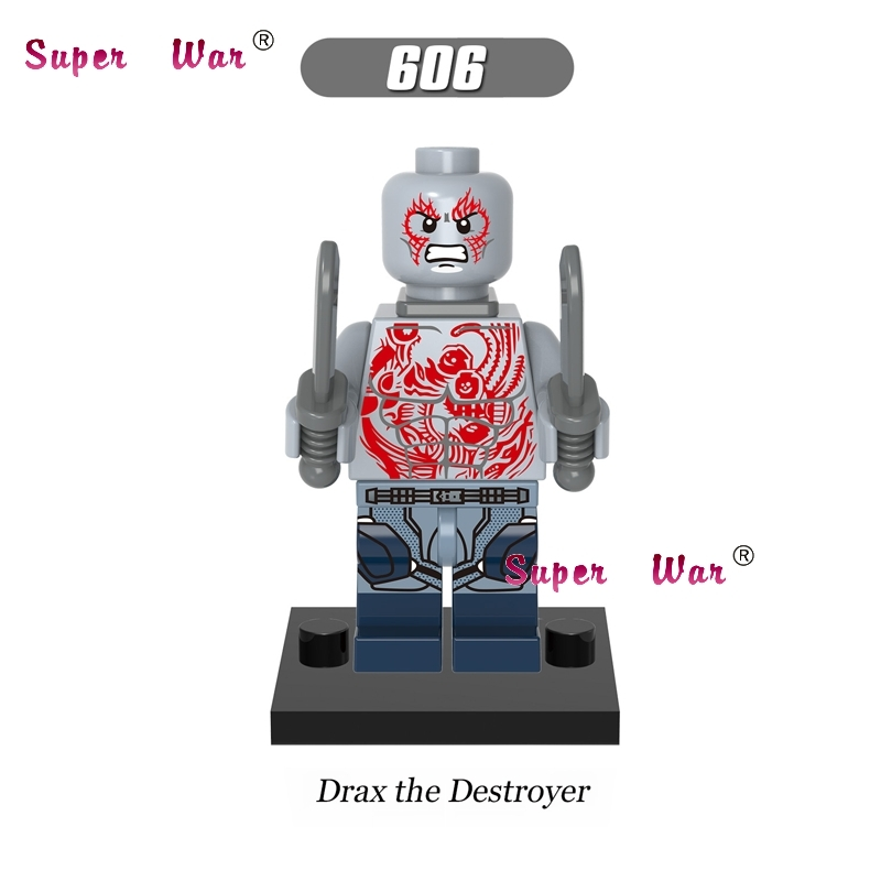 1PCS building blocks Guardians of the Galaxy Drax the Destroyer sets model bricks toys hobbies for children