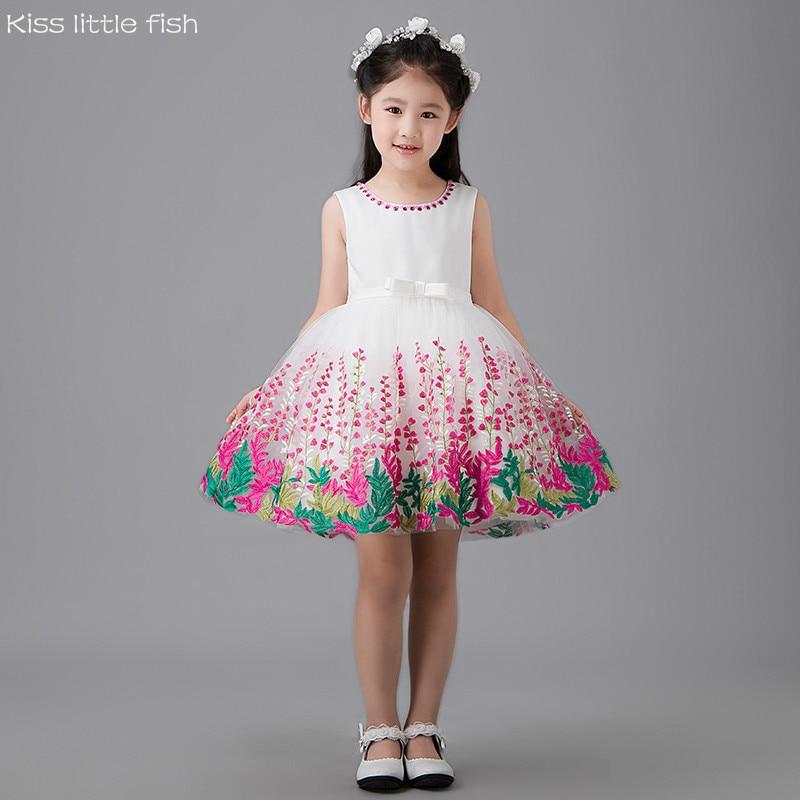 8508 Free shipping New Flower girls dresses Girls Graduation short ...