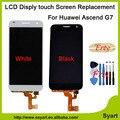 1 unids/lote 100% nueva prueba negro blanco pantalla lcd táctil digitalizador asamblea reemplazo para huawei ascend g7 g7-l01 g7-l03