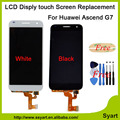 1pcs/lot 100% New Test Black White LCD Display Touch Screen Digitizer Assembly Replacements For Huawei Ascend G7 G7-L01 G7-L03