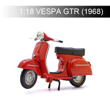Maisto 1:18 VESPA Piaggio 1968 GTR Red Motorcycle Models model bike Base Diecast Moto Children Toy For Gift Collection