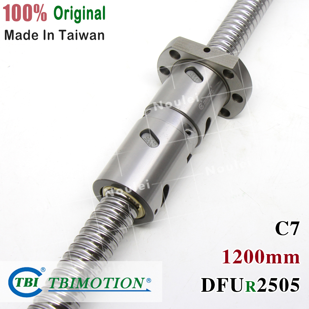TBI 2505 C7 1200mm ball screw 5mm lead with DFU2505 ballnut + end machined for CNC diy kit DFU setTBI 2505 C7 1200mm ball screw 5mm lead with DFU2505 ballnut + end machined for CNC diy kit DFU set
